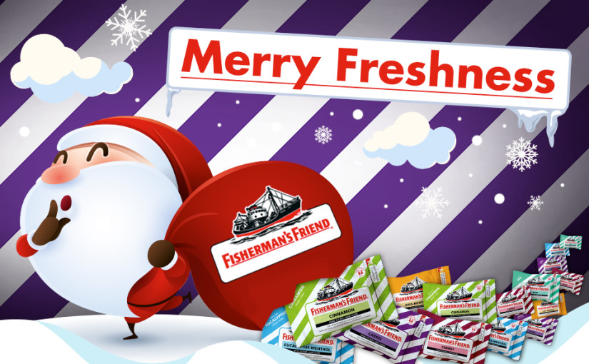 MERRY FRESHNESS WITH FISHERMAN'S FRIEND