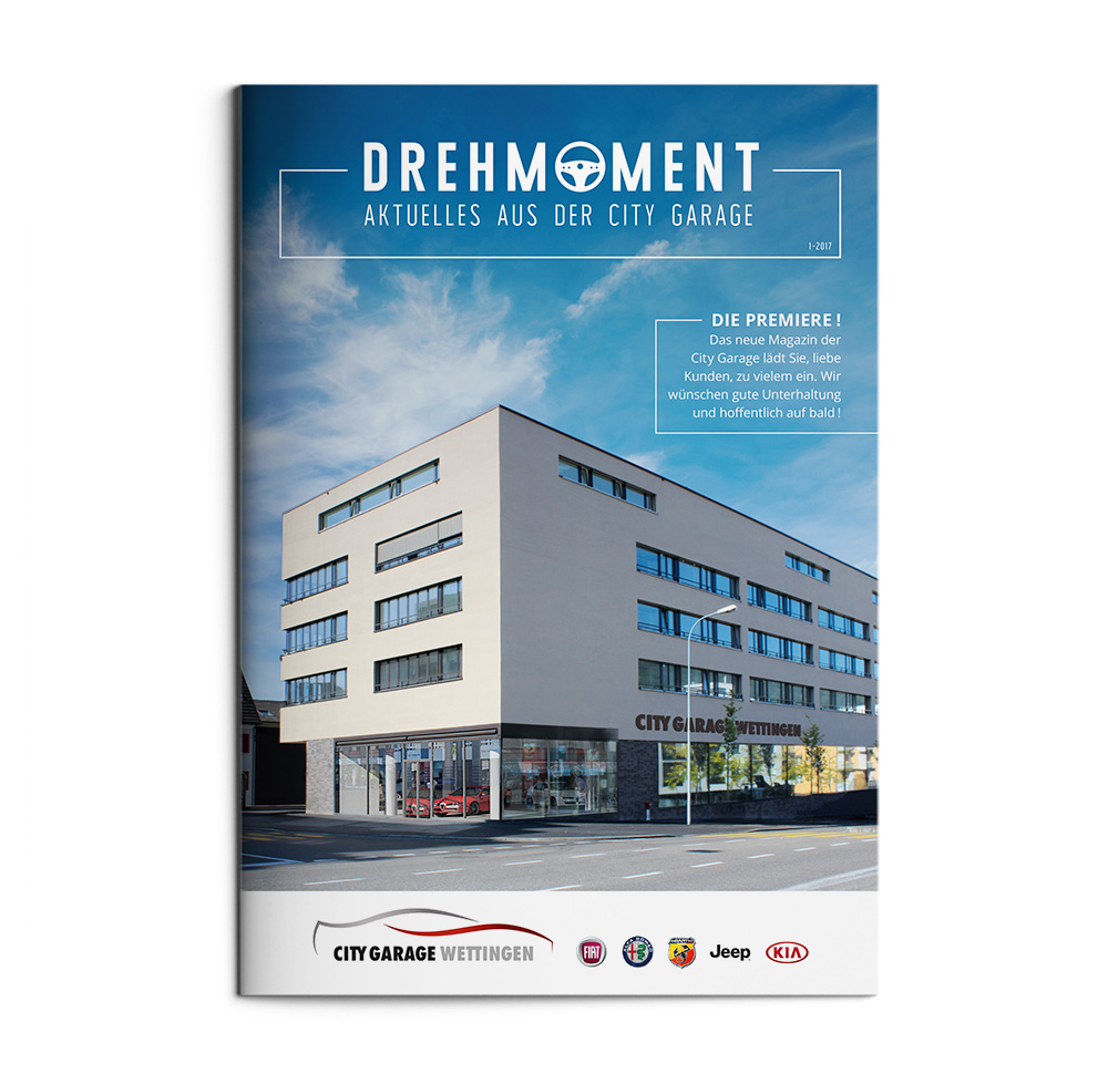 3029faad1cbd41 First edition of customer magazine DREHMOMENT