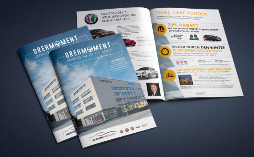 New customer magazine for City Garage Wettingen