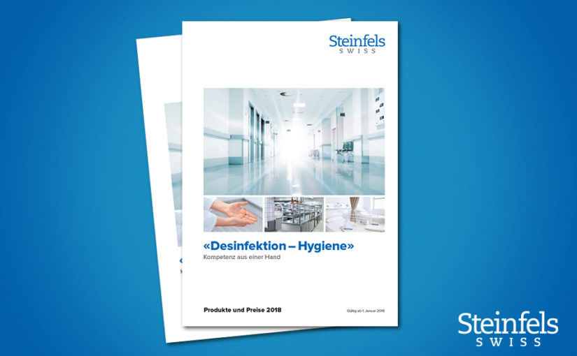 Steinfels Swiss: brochure for sustainable hygiene from Switzerland